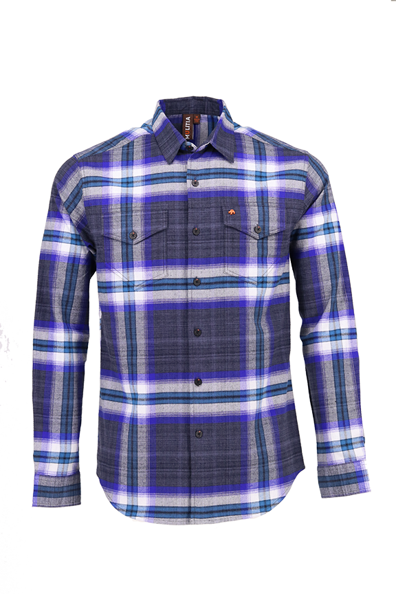 Vibe Flannel Shirt in Whopping Smoke Plaid