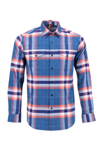 Vibe Flannel Shirt in Whopping Teal Plaid
