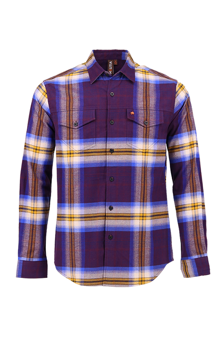 Vibe Flannel Shirt in Whopping Wine Plaid