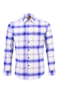 Vibe Flannel Shirt in Faded Grey
