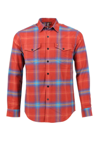 Vibe Flannel Shirt in Faded Madder
