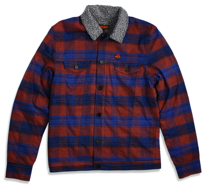 Lumberjacket - Navy / Rust
