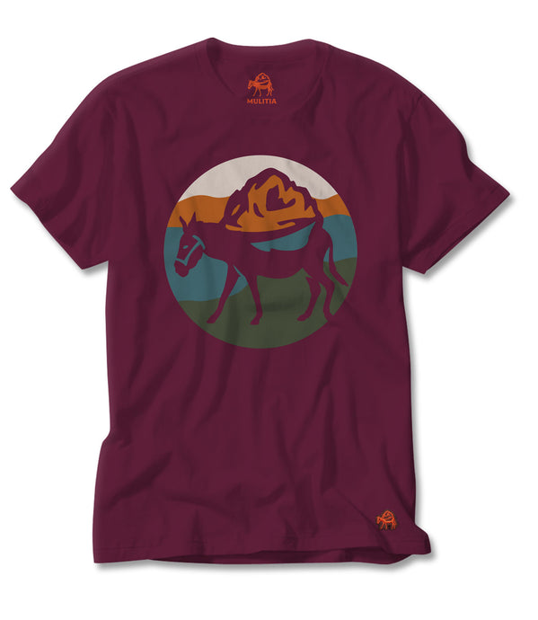 Mount Mulitia Tee in Burgundy