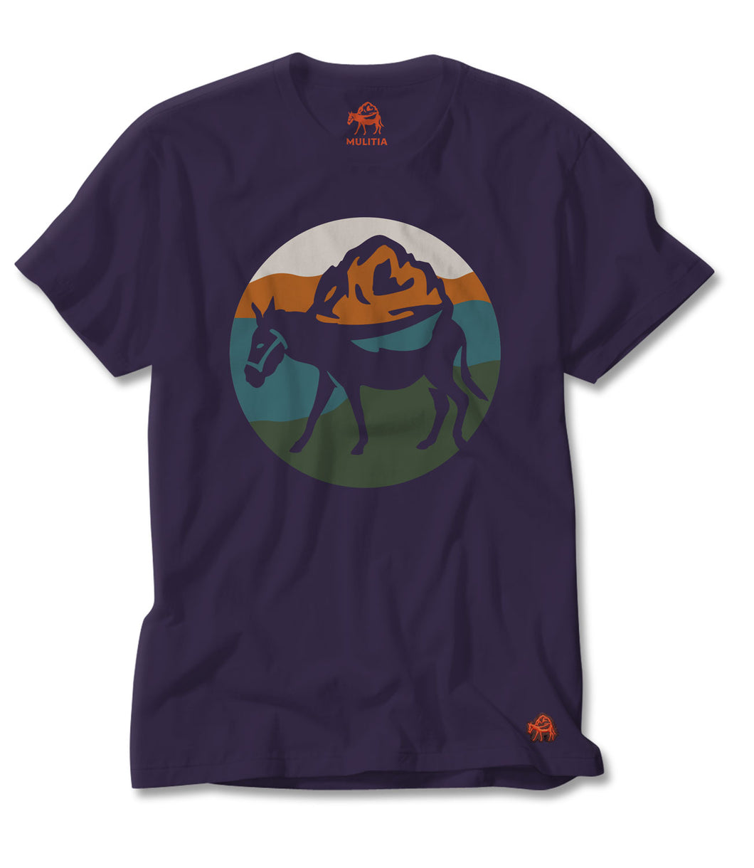 Mount Mulitia Tee in Navy