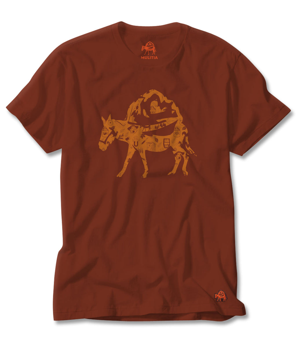 Mountain Mania Tee in Red