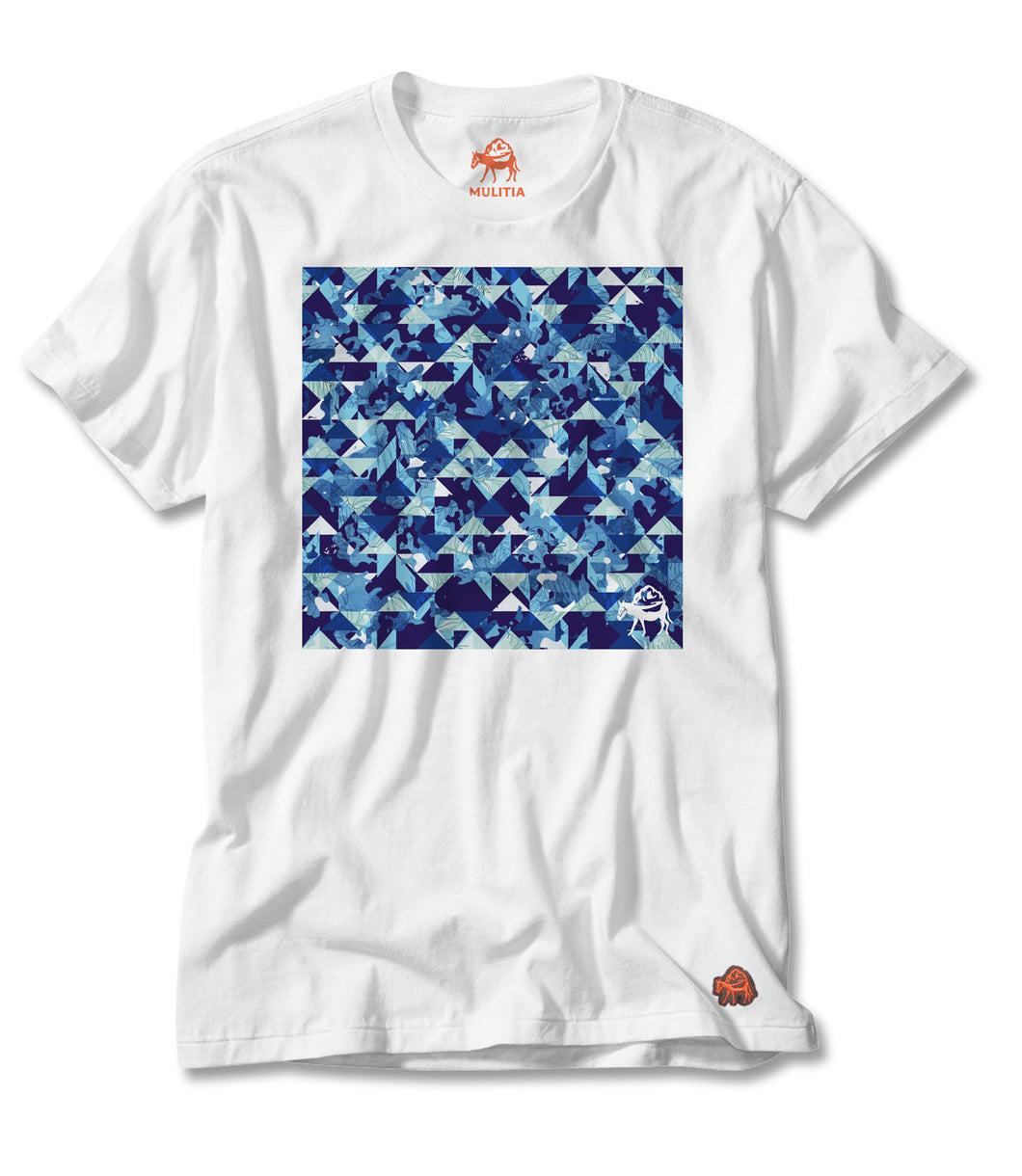 Southern Splash Tee - White