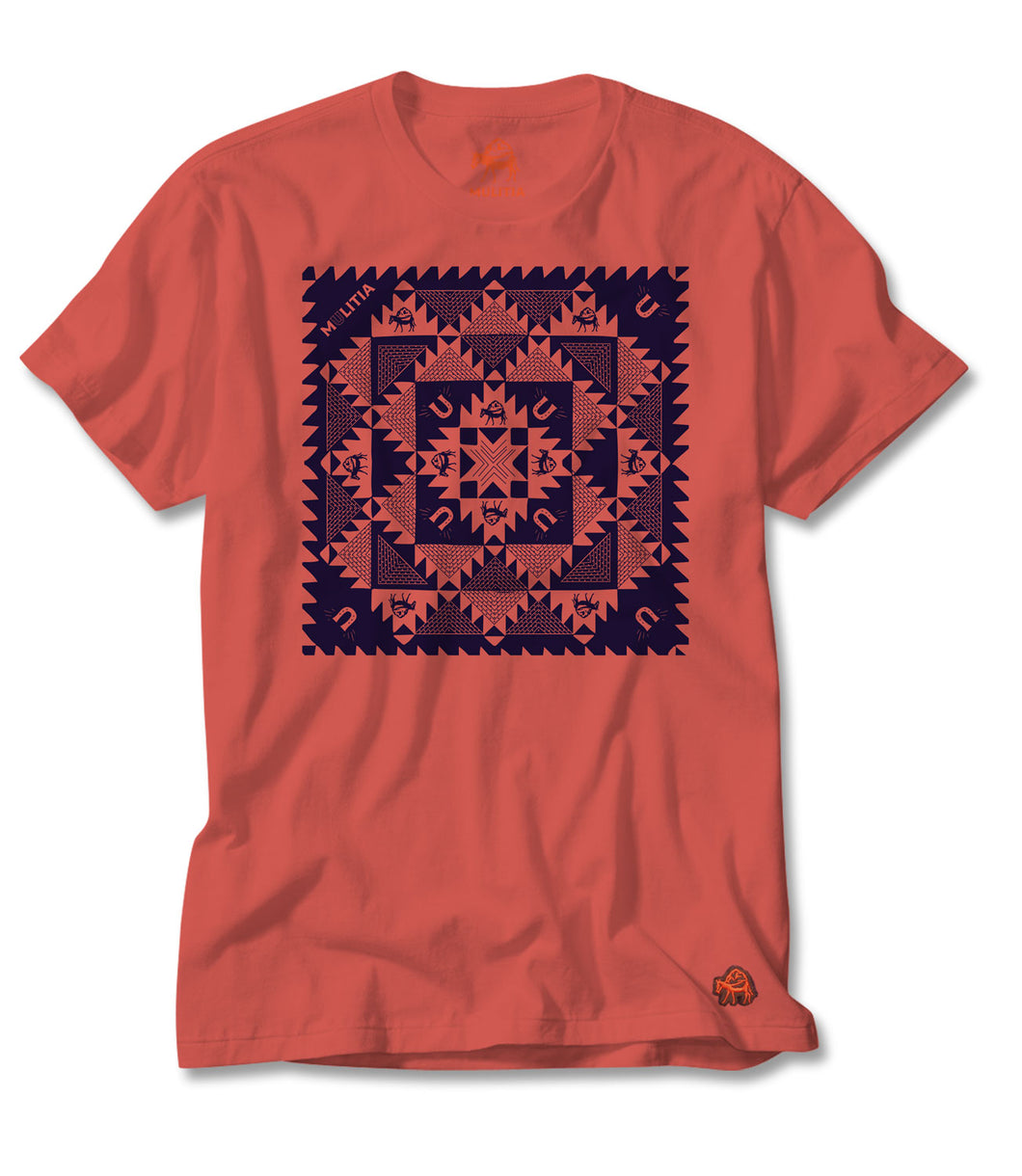Southern Stitches Tee - Coral
