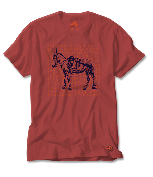 Noble Steed Tee in Coral