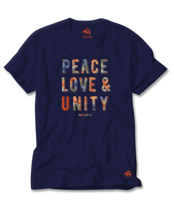 Peace and Love Tee in Blue
