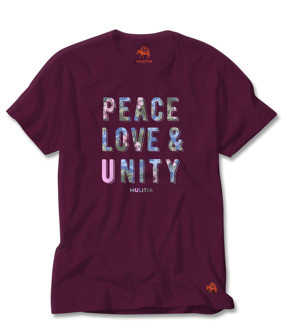 Peace and Love Tee in Fuschia