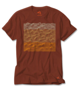 Topograph Tee in Red