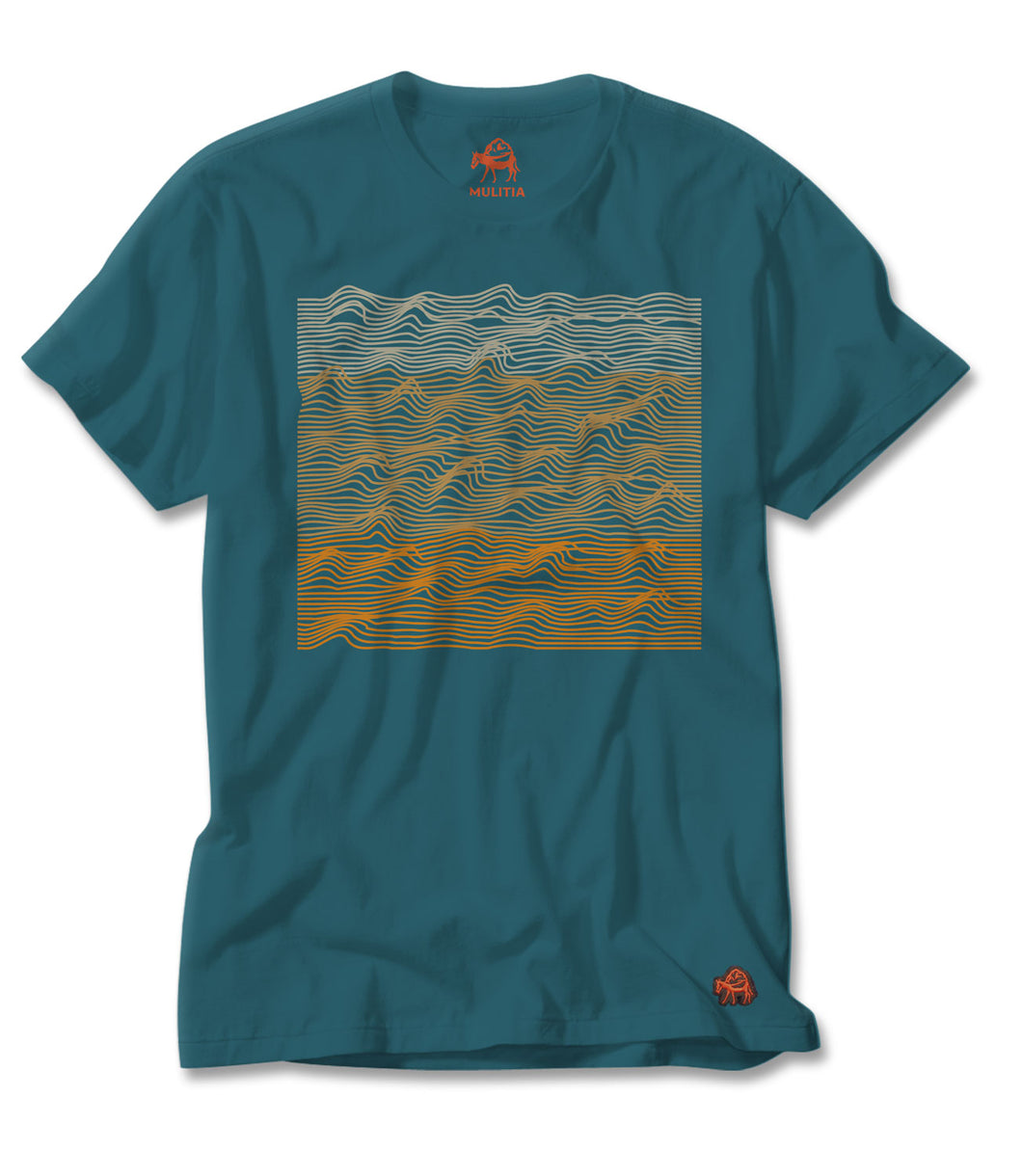 Topograph Tee in Teal