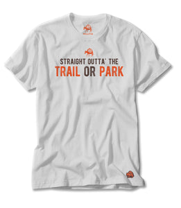 Trail or Park Tee in White