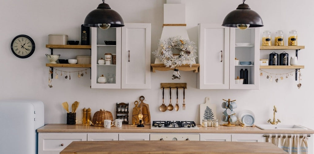 Storage & Space Saving ideas for Tiny Homes, in a beautiful white tiled small kitchen, at Estilo Living.