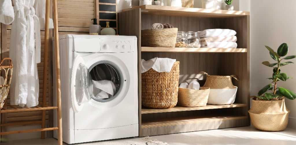 Bathroom & Laundry Storage solutions and ideas for Tiny Homes and small living spaces, at Estilo Living.