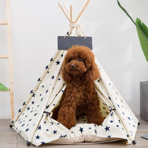 The Large Dog Bed Teepee with Plush Dog Bed Cushion from Estilo Living - Buy Dog Teepees Online & Other Pet Accessories