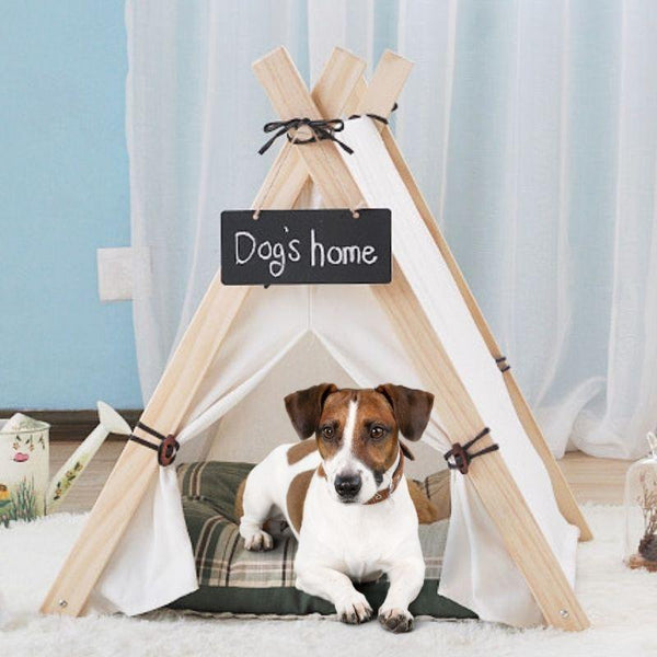 The Farmhouse Style Indoor Dog Tent from Estilo Living - Buy Dog Teepees Online & Other Pet Accessories