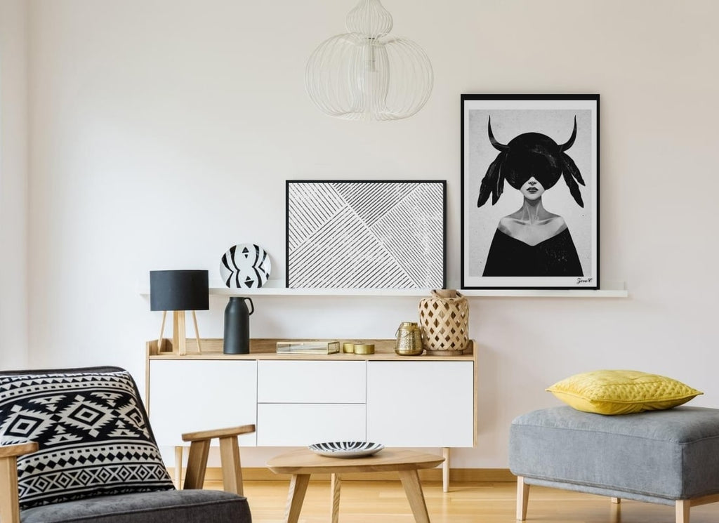 High art image, wall art prints, Best Home Décor Style Tips for Small Living Spaces, Estilo Living Blog