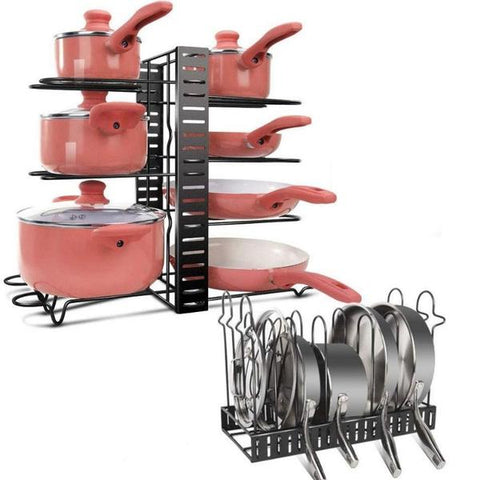 The Bristol Pan and Lid Holder for small kitchen storage, from Estilo Living