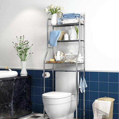 Hayden Space Saving Over The Toilet Shelves for toilet bathroom storage for small homes, from Estilo Living