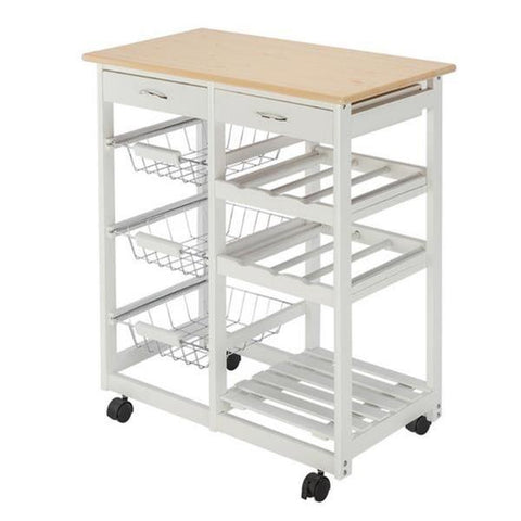 The Charleston Kitchen Trolley Cart on Wheels for small kitchen storage, from Estilo Living