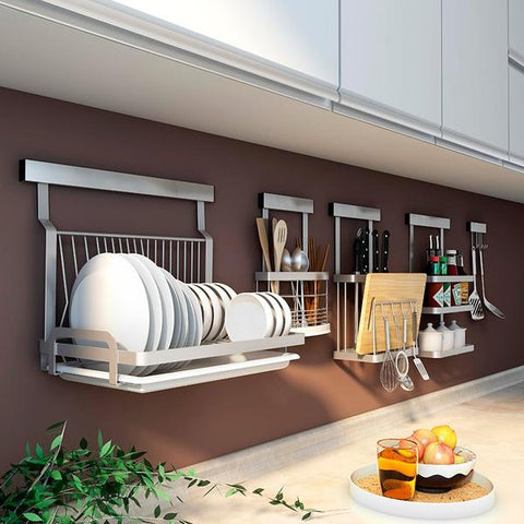 Claren Wall-Mounted Utensil Storage Racks Collection for small kitchen storage, from Estilo Living