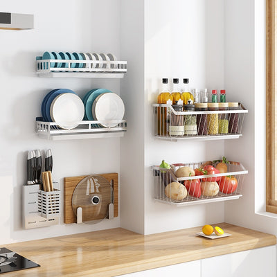 Stainless Steel Wall-Mounted Storage Racks Collection | Kitchen Storage | Wall Storage in Kitchen | Countertop Storage | Estilo Living