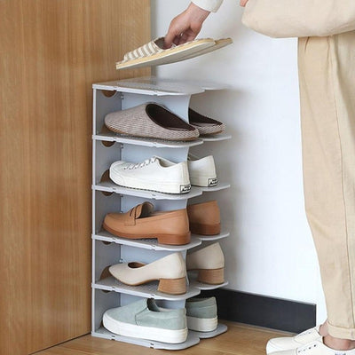 6-Layer Modular Shoe Storage Shelves | Shoe Racks | Small Space Ideas | Storage for Shoes | Estilo Living