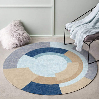 Elwood Abstract Round Floor Rugs Collection | Round Rugs | Round Mats | Floor Rugs | Floor Mats | Geometric Rugs | Abstract Rugs | Modern Rugs | Estilo Living