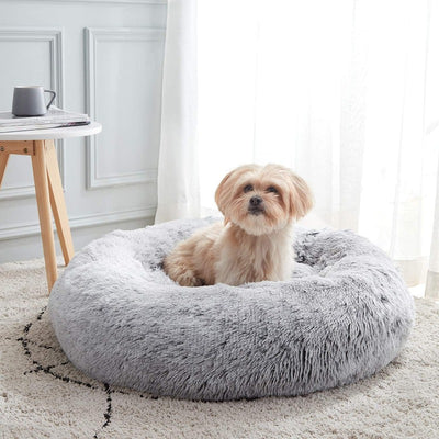 Extra Plush Calming Round Donut Dog Beds | Dog Beds | Pet Beds | Donut Beds | Plush Dog Beds | Dog Nests | Estilo Living