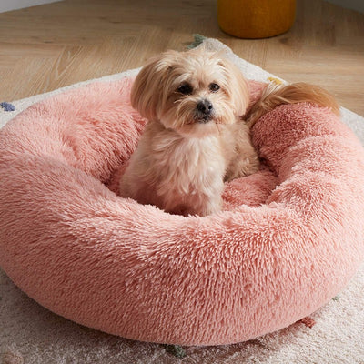 Round Plush Calming Donut Dog Bed for Small to Large Dogs | Dog Beds | Pet Beds | Donut Beds | Plush Dog Beds | Dog Nests | Estilo Living