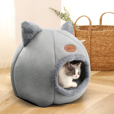 Cute Kitty Calming Cat Cave with Removable Cat Bed Cushion | Cat Beds | Pet Beds | Pet Caves | Plush Cat Beds | Estilo Living
