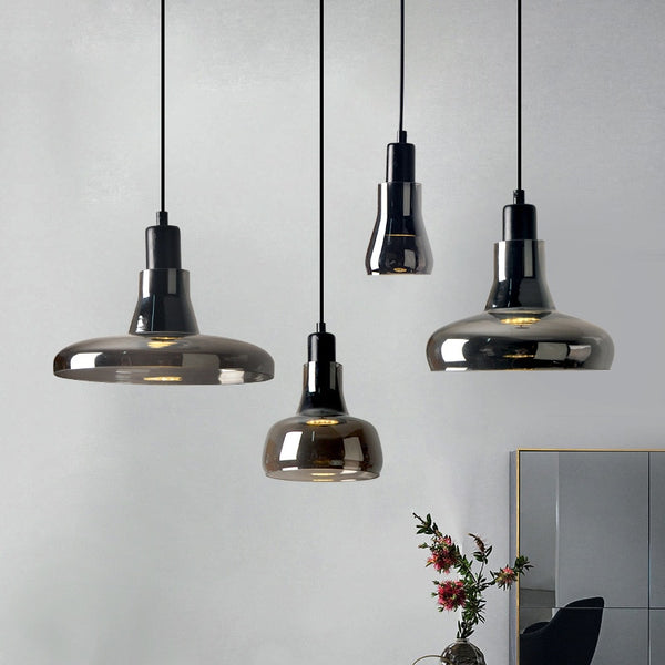 Vintage Art Deco Glass Pendant Lights-Pendant Lights with Rope-Estilo Living