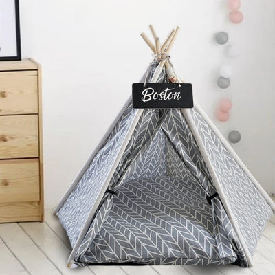 Geometric Portable Pet Teepee for Dogs & Cats | Pet Tents | Pet Teepee | Cat Teepee | Dog Teepee | Estilo Living