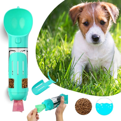 4-in-1 Portable Dog Water Bottle, Feeder, Poop Bag Holder & Pooper Scooper | Pet Water Bottle | Estilo Living