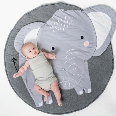 Elephant Baby Play Mat - Baby Animal Infant Play Mats - Nursery - Child Play Mats - Estilo Living