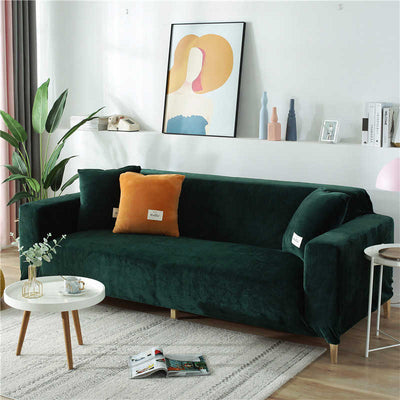 Plush Velvet Sofa Slipcover for L-Shaped & Sectional Sofas | Couch Covers | Pet Couch Protectors | Sofa Covers | Sectional Couch Covers | L-Shaped Couch Covers | Slip Covers | Estilo Living