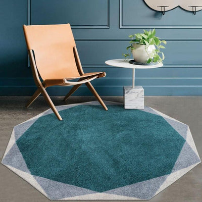 Abstract Geometry Round Floor Rug Collection-Estilo Living