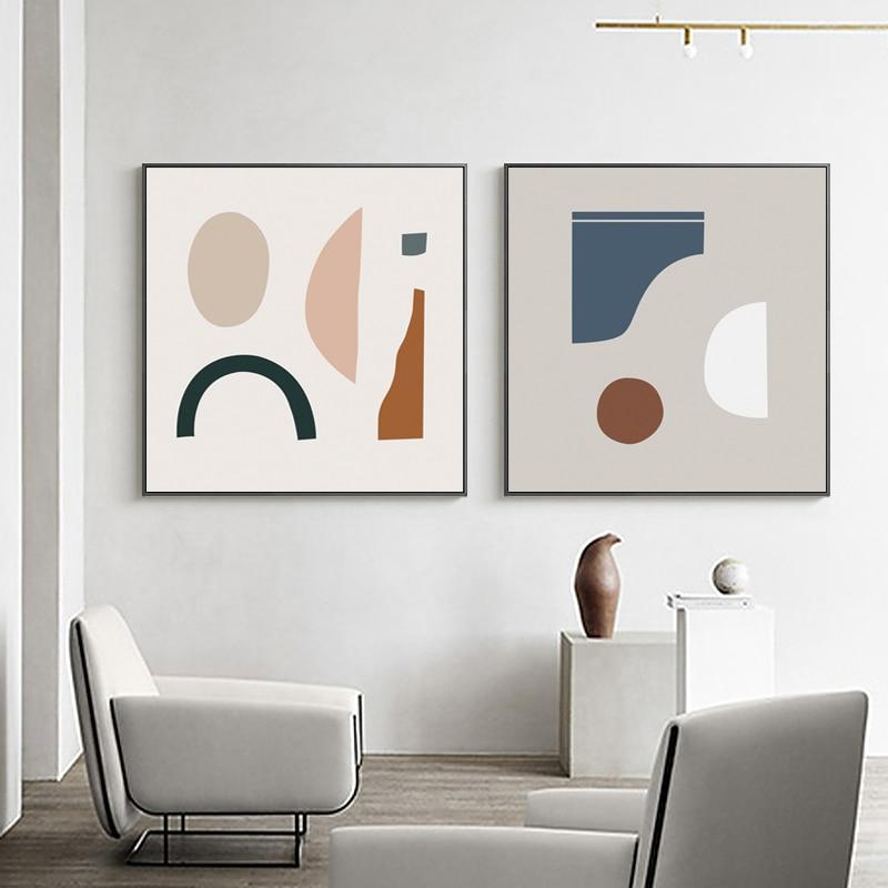 Abstract Shapes Wall Art Collection-Wall Art for Living Room-Estilo Living