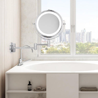 Adjustable LED Makeup and Bathroom Mirror-Bathroom Mirror Round-Estilo Living