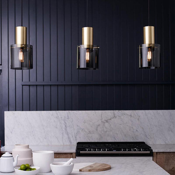 Art Deco Hanging Pendant Lights and Standing Tabletop Lamp-Lighting-Estilo Living-Select-Select-Estilo Living
