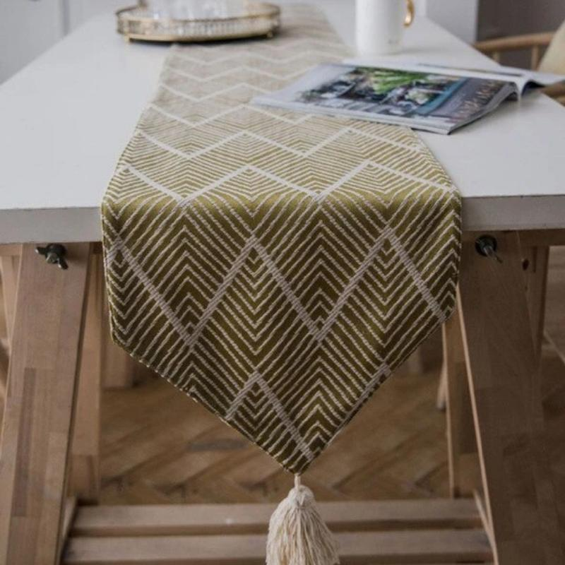 Aztec Fern Table Runner-Kitchen-Estilo Living-Dark Yellow-45x45cm pillowcase-Estilo Living