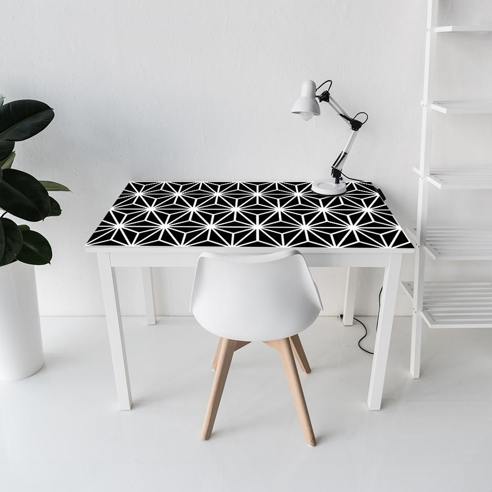 Black and White Geometric Decal Strips-Designer DecalS for Furniture-Estilo Living