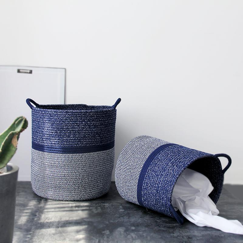 Blue Torrey Storage Baskets-Storage Baskets Woven Collection-Estilo Living