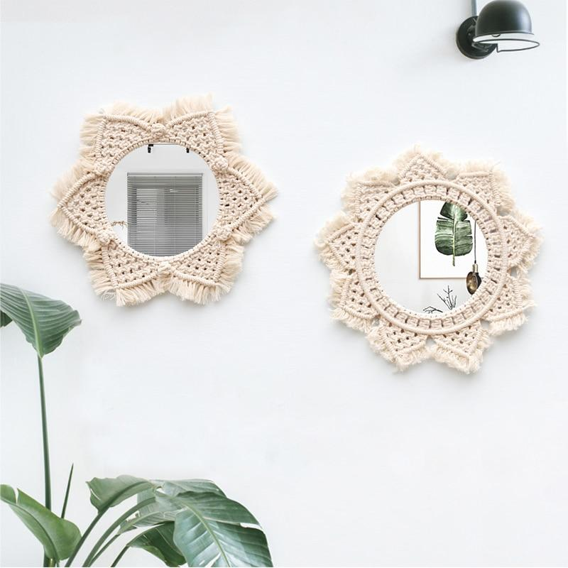 Bohemian Macrame Wall Tapestry & Mirror Frame-Wall Decorations-Estilo Living-Estilo Living