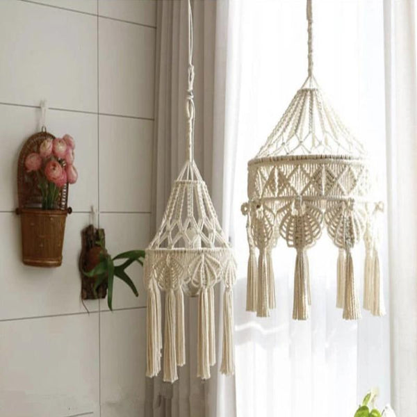 Boho Shade Hanging Lights-Pendants Light For Bedroom-Estilo Living