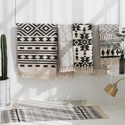 Bold Weave Turkish-Style Kilim Mats | Boho Mats | Tassel Mats | Woven Mats | Turkish Mats | Doorway Mats | Entryway Mats | Stylish Mats | Estilo Living