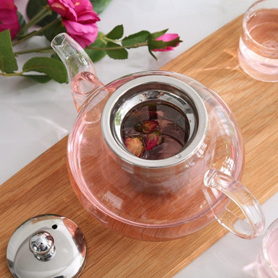 Borosilicate Glass Teapot with Stainless Steel Infuser | Kitchen | Teaware | Glass Teapots with Infusers | Estilo Living