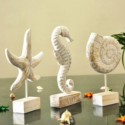 Coastal Handmade Wooden Sea Ornaments-Home Decor-Estilo Living