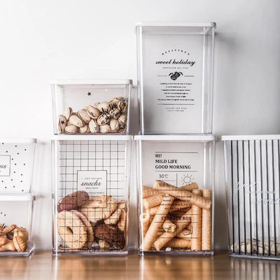 Cosmopolitan Transparent Storage Collection-Storage Baskets Decorative Collection-Estilo Living